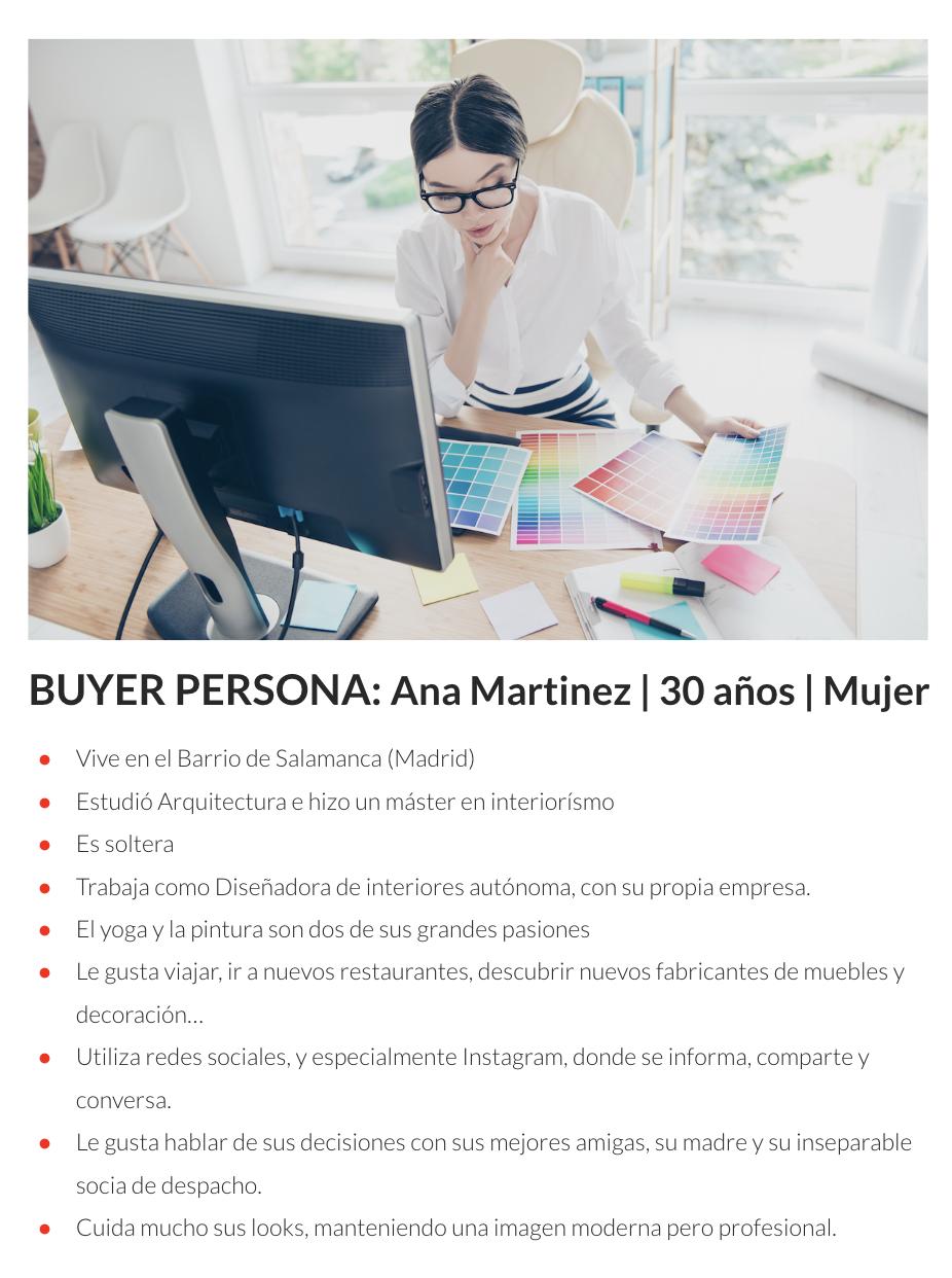 Ejemplo buyer persona - funnel
